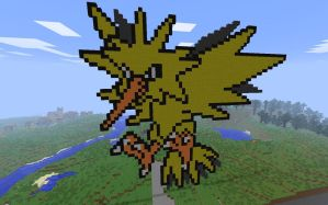 zapdos in minecraft by Dutchcrafter