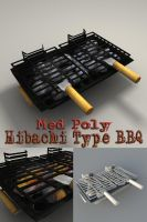 Med Poly Hibachi Type BBQ by sicklilmonky