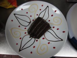 Decorated cake plate 3 by Adriellovesart