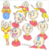 Aang sketches by Dead-Raccoons