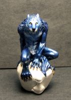 Blue werewolf pawn older ver by Meadowknight