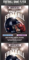 Football Game Flyer Template 2 by Hotpindesigns