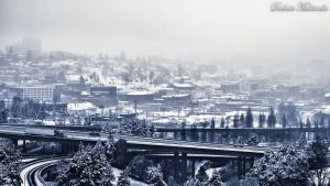 Winter in Tacoma by DarkainMX