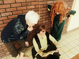 The big four - Hiccup/Jack Frost/Merida by DoikoKhano