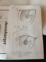 Ed and Winry eye doodle by BakuchanBaku