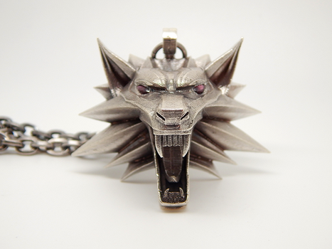 Witcher-medallion-silver-004 by BloodCountessKTD