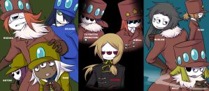 Three eye characters by TOUSEI