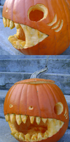 Shark Pumpkin by DeathPhantom