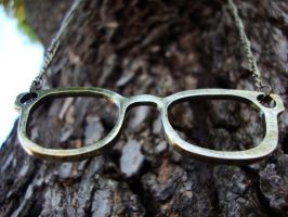 Cute Nerd Glasses Necklace by shandab3ar