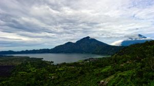 Lake Batur and Mt Agung by Shooter1970