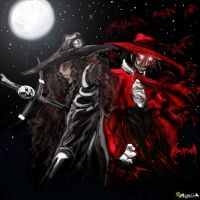 Alucard and D by FallenHybrid