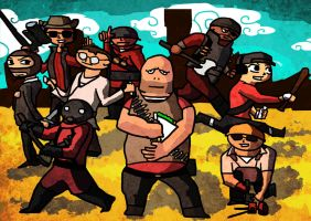 Team Fortress 2 - Wind Waker Style by kingmancheng