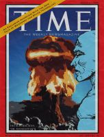 Dr. Manhattan on TIME Magazine by Temidien