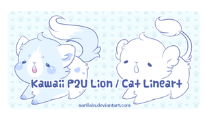 P2U Lion / Cat Lineart by Sarilain