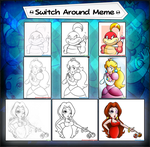 A Very Mario Art Switch Meme - Ladies Edition by JamesmanTheRegenold