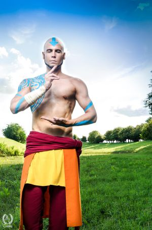 Adult Aang - Avatar The Last Airbender by Elffi