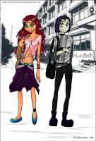 Starfire-Raven -Back to School by FuSSsL