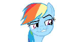The Pixelized Duckface of Dashie's by LegoGuy87