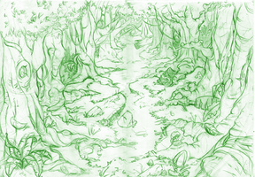 Background 1 - Sketch by Cryspan