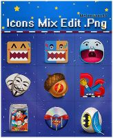 Icons Mix edit by melomanox93