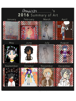 2016 Art Summary by Ameah1234