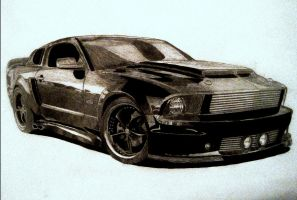 Mustang GT drawing by zalmyw88