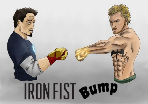 Iron Fist Bump by Gilliland35