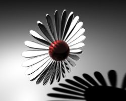 Chrome_Flower by Rogervd