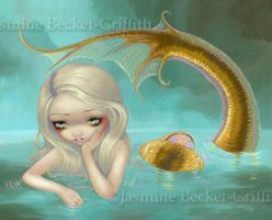 Golden Mermaid by jasminetoad