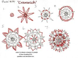 How to draw Paisley Flower 24 Cranwich by Quaddles-Roost