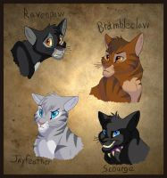 My Favorite Warrior Cats by WindWo1f