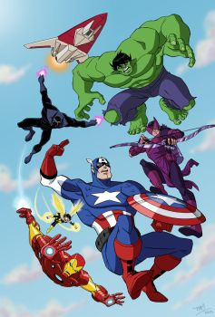 Avengers: Earth's Mightiest Heroes - color by TimLevins