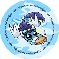 Soarin Chibi Badge by RedPawDesigns