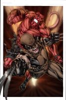 Hellboy and Wolverine colored by Niggaz4life