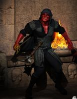 Gruntak Fighting pose DS Final by Athenion