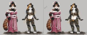 Panda adoptables by Angevere