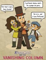 Professor Layton and the Vanishing Column by captainsponge