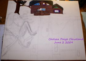 Reflection - Painting WIP by Chelsea-C