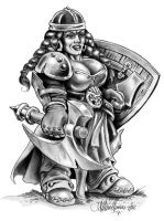 Freja, Dwarf Shield Maiden by AthenaTT