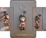 League of Legends - Wukong keychain by Nko-ennekappao