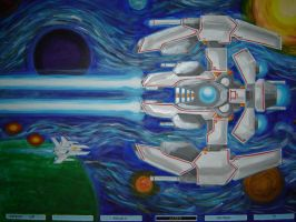 Gradius Painting by Gold-Paladin