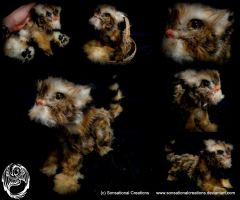 Handmade OOAK Poseable Tiger Cub - SOLD by SonsationalCreations