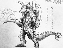 Godzilla : War Of The Monsters : Gigan File by Erickzilla