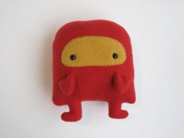 Red Robot Plush by Neoitvaluocsol