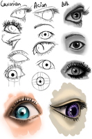 Asian and Cacasian Eyes by OryxPixie