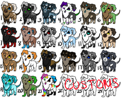 Puppy Adoption Sheet 1 by SecretAdopts