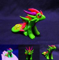Neon Green Dragon by ZeitgeistDragon