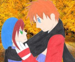 Autumn Couple by EllenorMererid