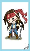 chibi Jack Sparrow :D by AwesomePirate