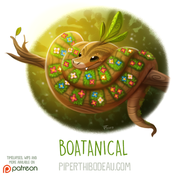 Daily Paint 1633. Boatanical by Cryptid-Creations